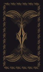 Tarot cards - back design. Maat - Goddess of Truth and Justice.