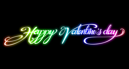 text design for Valentine Card on black background