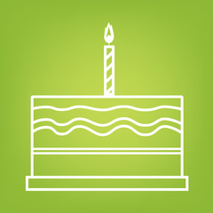 Birthday cake line icon