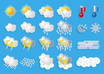 Weather icons for meteorology forecast [Convertido]