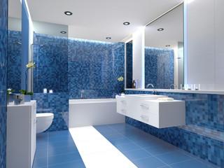 schickes badezimmer mit fliesen design mosaikfliiesen