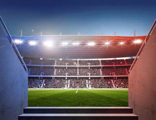 Wall Mural - Stadion Frankreich Durchgang farbiges Licht