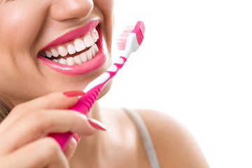 healthy teeth with tooth-brush