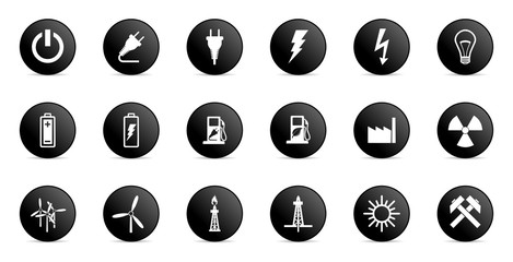 business and electricity internet vector icons set