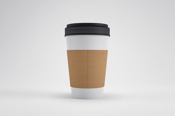 Blank Coffee Cup Isolated (3D Professional Render)