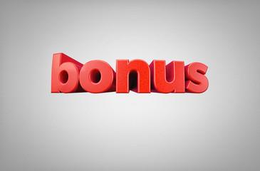 Word Bonus - High quality 3D Render