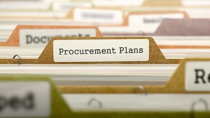 Procurement Plans on Business Folder in Catalog.
