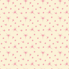 Star seamless background. Holiday pattern