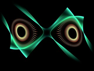 Evil eyes abstract fractal background