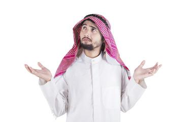 Confused Arabic Person in Studio