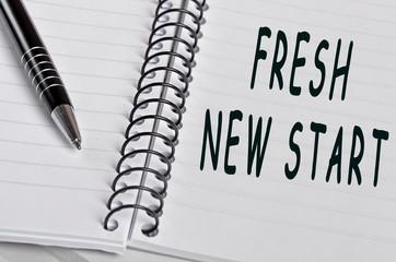 Fresh new start words