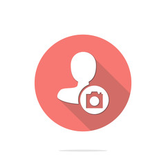 Vector illustration of flat male user icon . Could be used as menu button, user interface element template, badge, sign, symbol, company logo