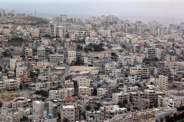 Eastern Jerusalem. View from Hebrew University to arabic village of Isawiya