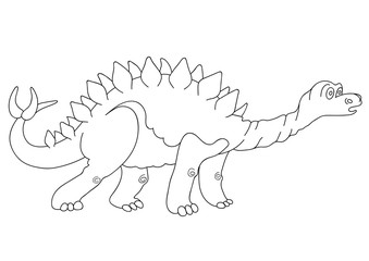 Illustration of a dinosaur Stegosaurus