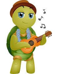 Mascot Turtle Hawaiian Ukelele