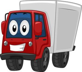 Keuken foto achterwand Cars Mascot Delivery Truck