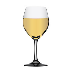 White wine in glass
