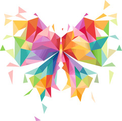 Abstract Butterfly Geometric Design