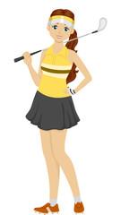 Girl Teen Golf