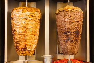 Grilled Chicken Lamb Shawerma Fast Food Meat