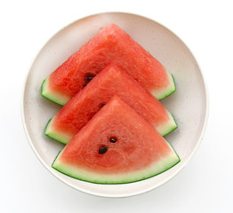 Fresh watermelon in bowl