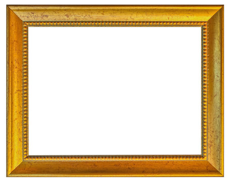 cadre doré rectangulaire, fond blanc
