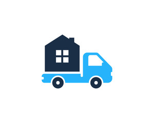 Property Moving Logo Design Template