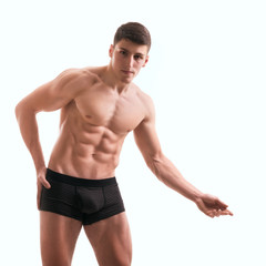 Perfect male body-athlete