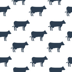 Cows seamless pattern.Vector illustration