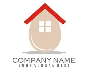 egg house vector logo