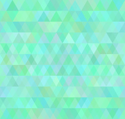Retro background, pattern triangles transition bright colors. Vector