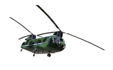 Chinook helicopter isolated background  and Concept
