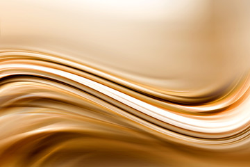 Amazing Brown Gold Waves Design Background
