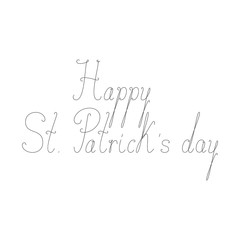 Happy St Patricks day calligraphic lettering