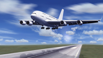 Passagierflugzeug beim Start