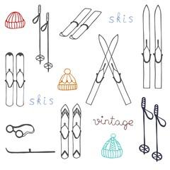 vintage skis,retro