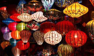 14 january 2016, Hoi An, Vietnam. Paper lanterns on the streets of Hoi An 壁紙(ウォールミューラル)