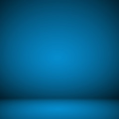 Abstract room interior blue background