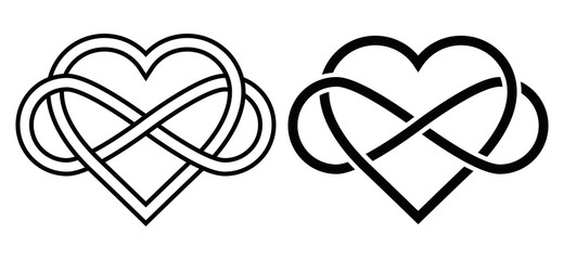 Intertwined Heart with The Sign of Infinity