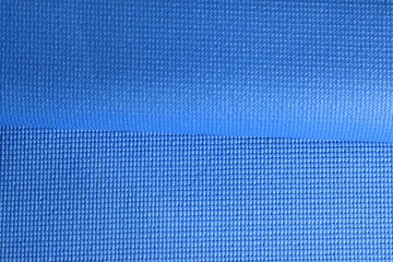 Folded Blue Fitness mat texture