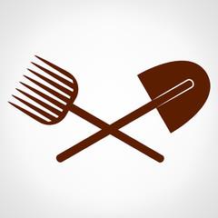 Spade and pitchfork