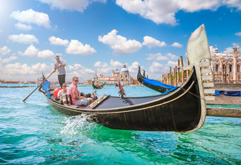 Photo sur Plexiglas Gondoles Gondola on Canal Grande in Venice, Italy