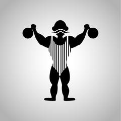 Circus strongman icon