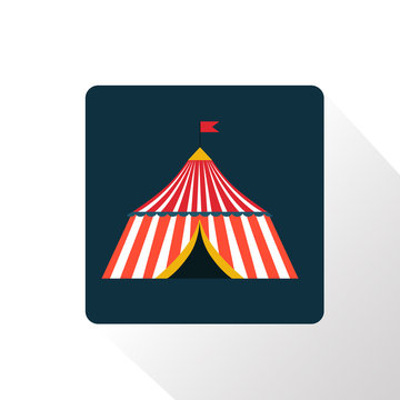 Color circus dome icon
