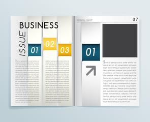 Magazine Layout : Vector Illustration