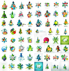 collection of Christmas and New Year concepts. Modern style