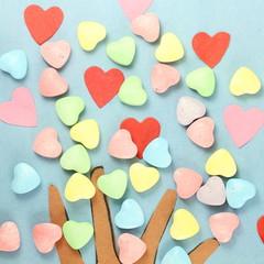 Heart candy Valentine Background