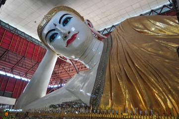 Kyauk Htat Gyi Reclining Buddha, Yangon,Myanmar.
