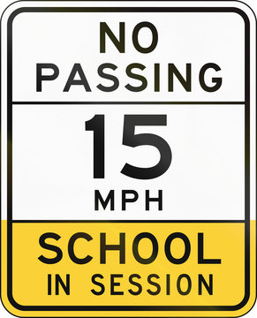 Road sign used in the US state of Arizona - school zone