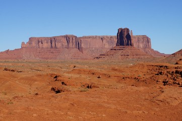 View of Monument Valley Navajo Tribal Park